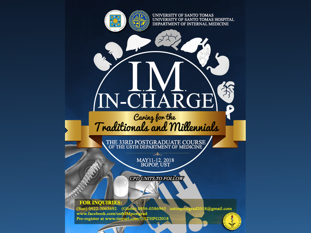 33rd Postgraduate Course - I.M. IN-Charge: Caring for the Traditionals and Millenials